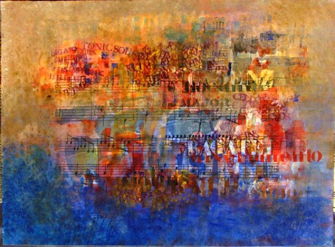 MUSICAL ABSTRACT ORIGINAL WATERCOLOR ON PAPER SALE - 2