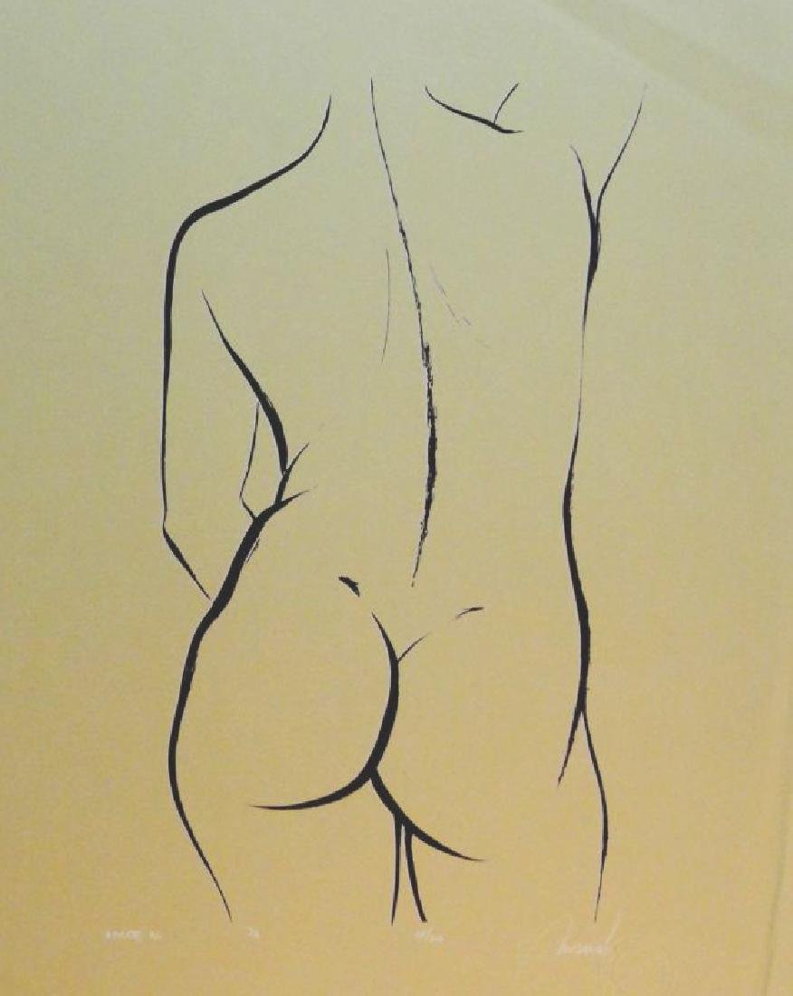 Nude Figure Drawing Signed Limited Edition