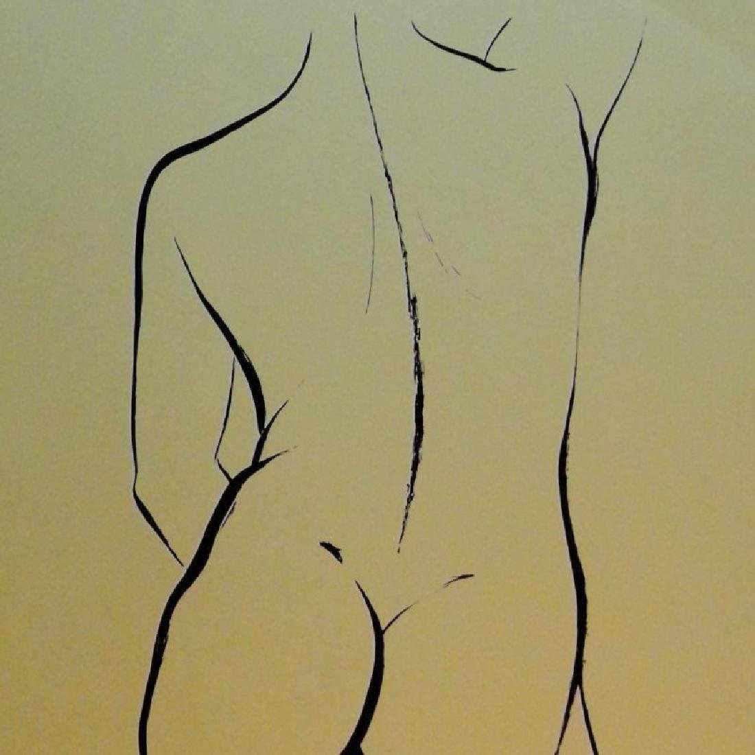 Nude Figure Drawing Signed Limited Edition - 2