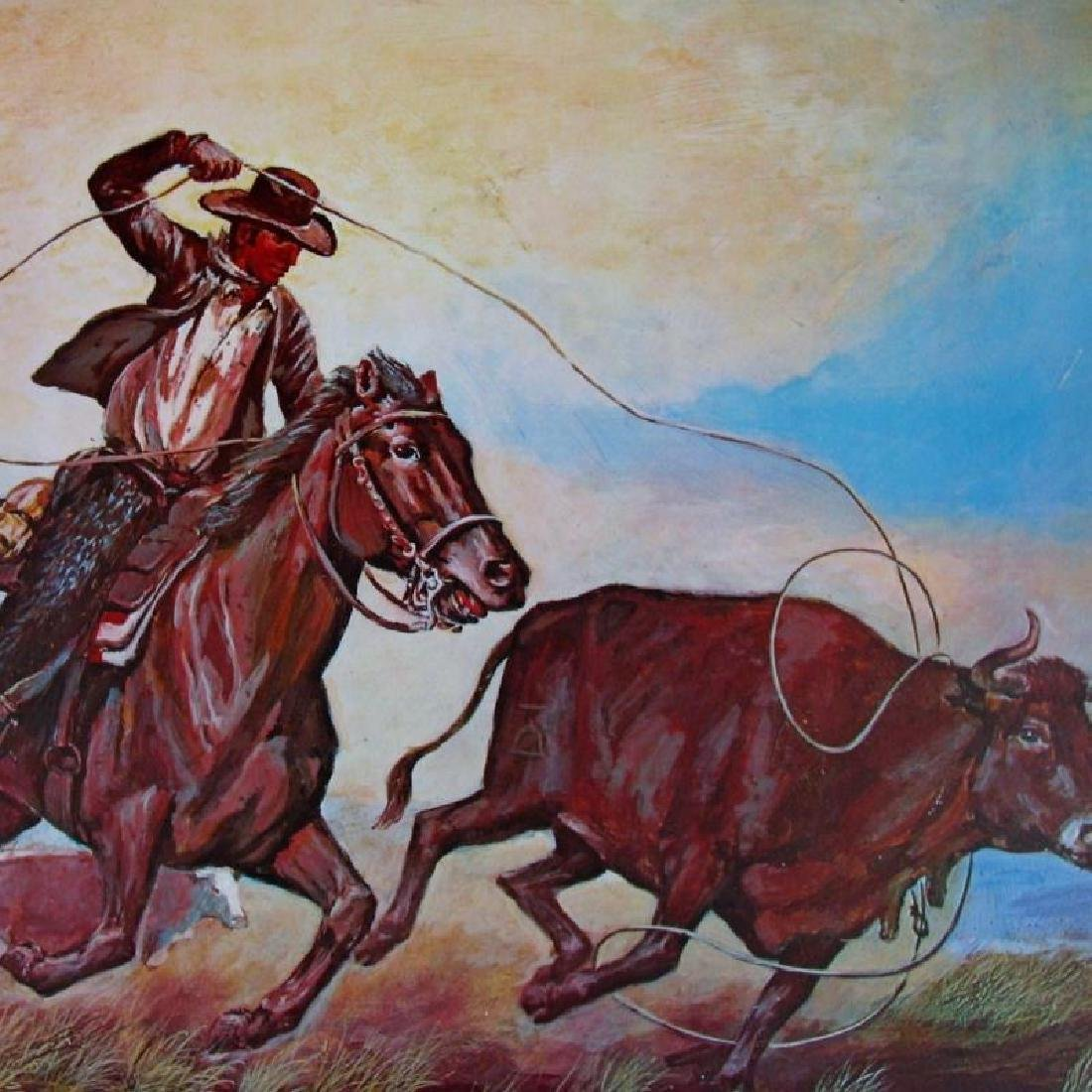 Horse Round Up Western Style Ltd Ed Litho Sale - 2