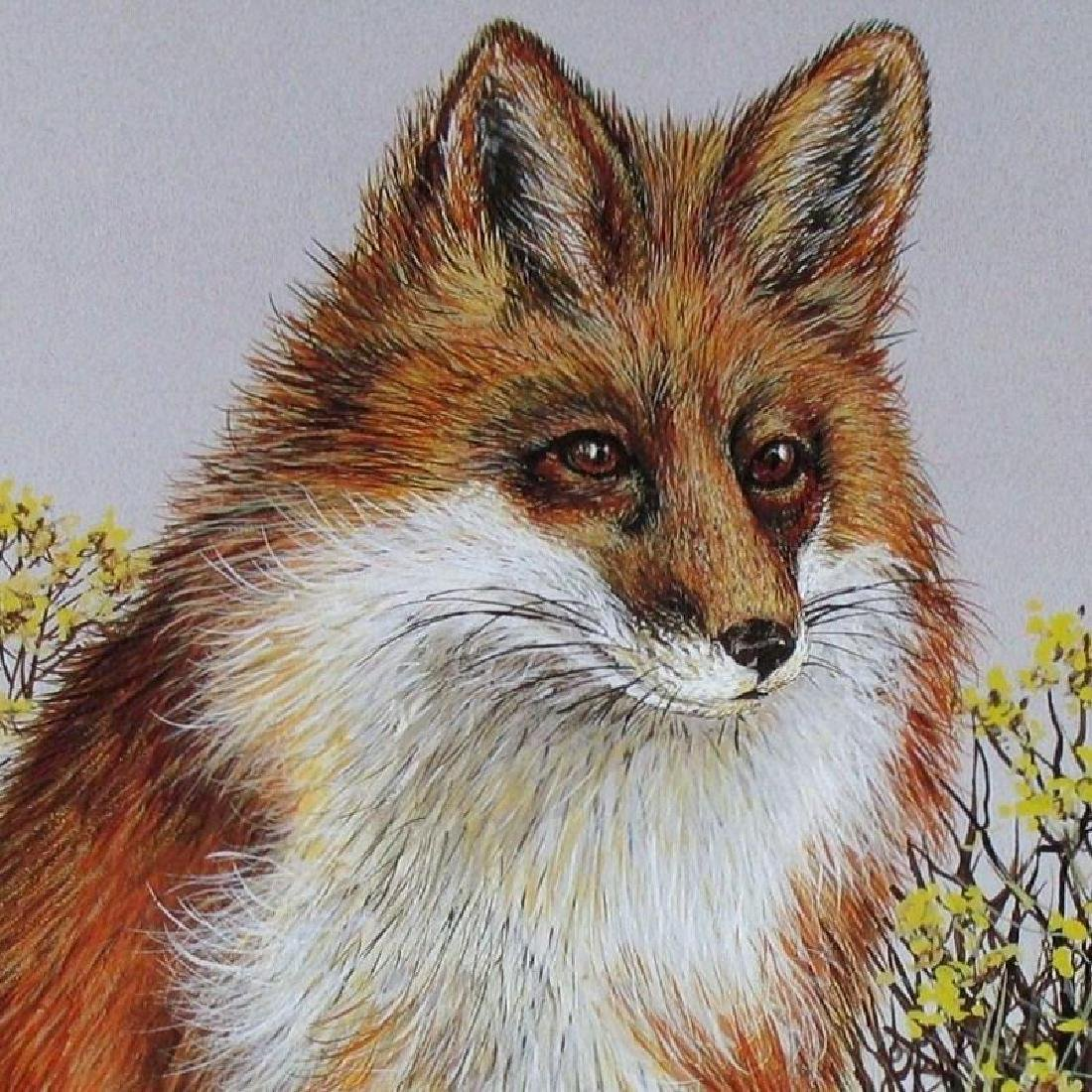 Harris Fox Plate Signed Lithograph Realistic Art - 2