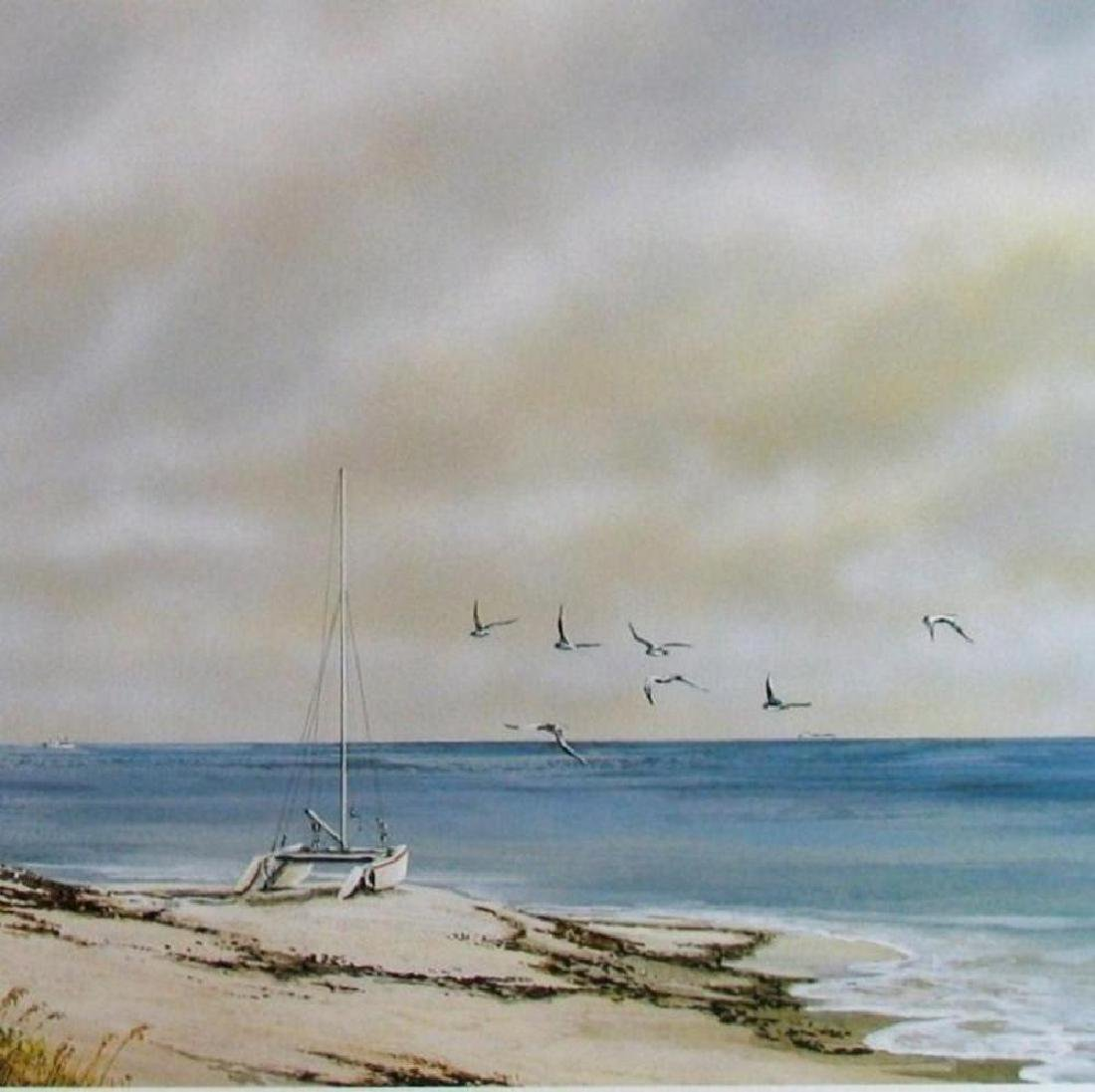 Beach Scene With Birds Fantastic Price Only $20 - 2