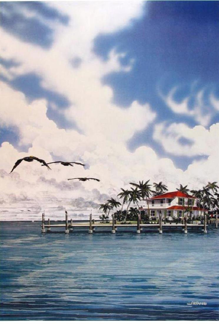 Everglades Style Lithograph Plate Signed Huge Sale