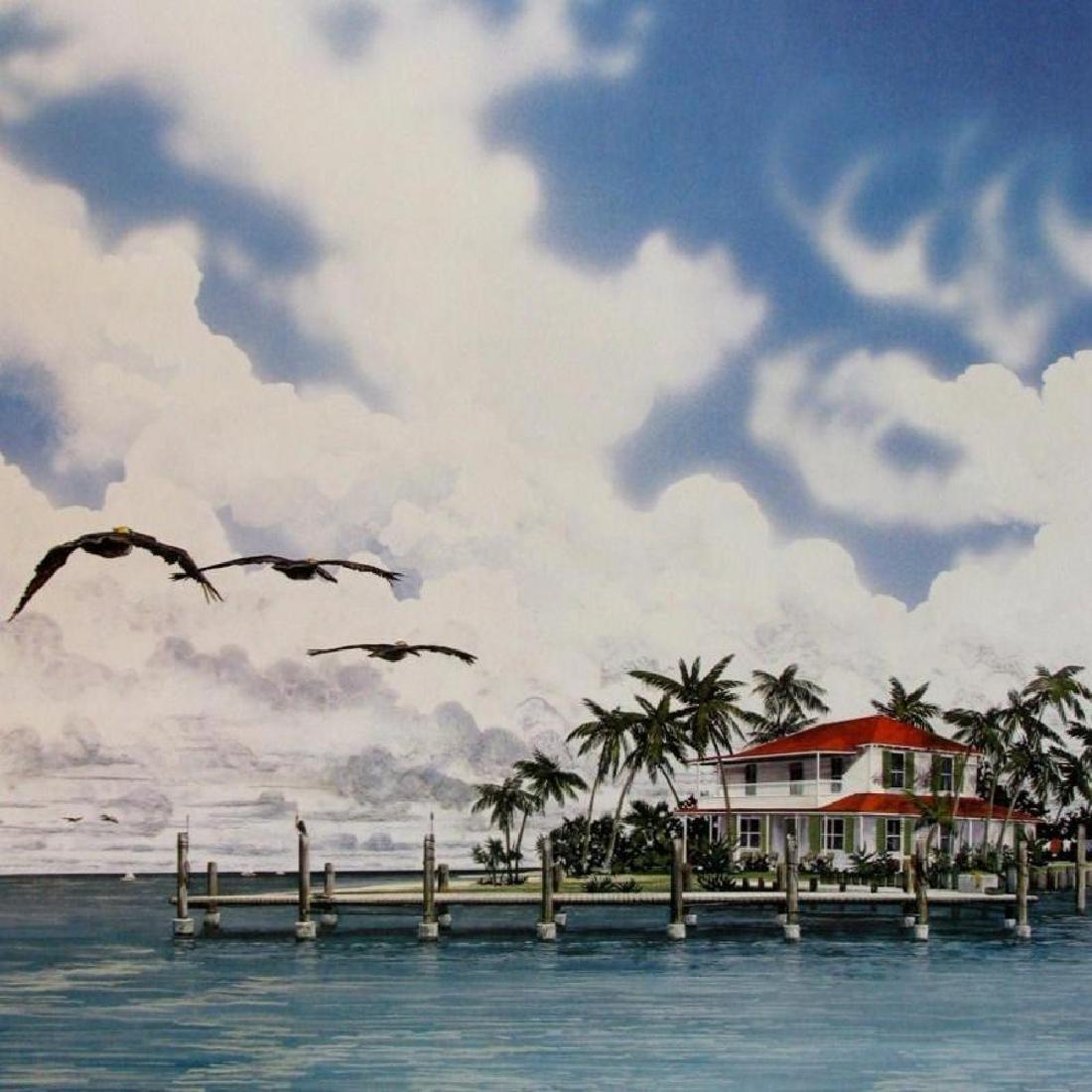 Everglades Style Lithograph Plate Signed Huge Sale - 3