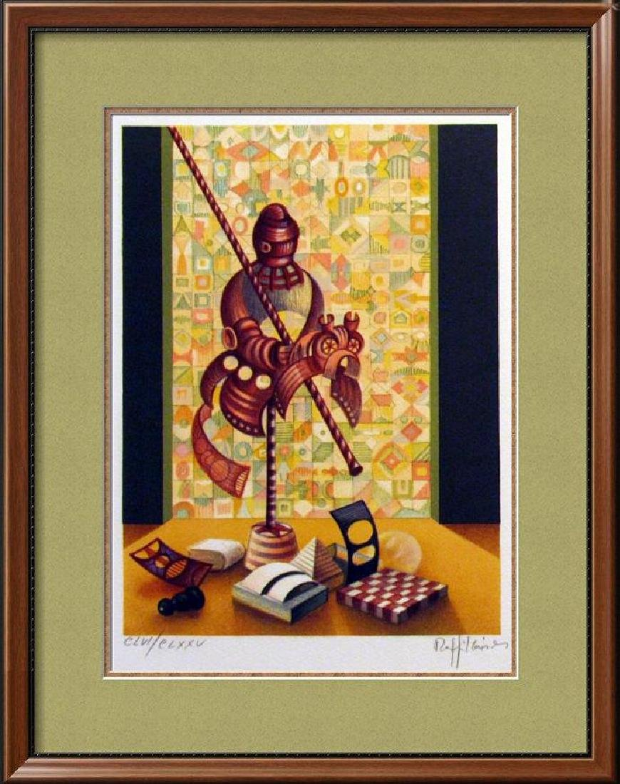 Chess Knight Art Signed Lithograph Limited Edition Only