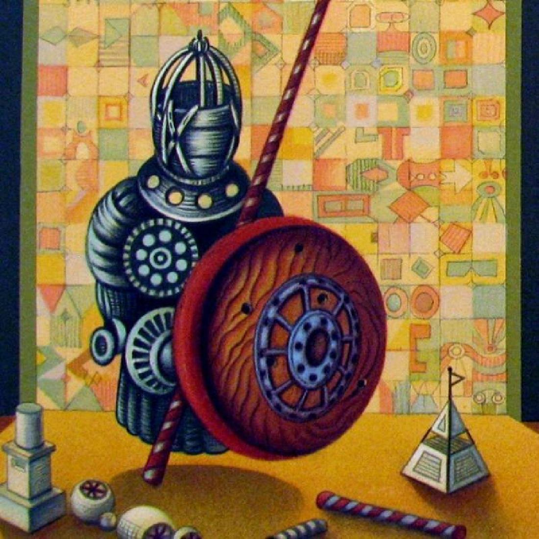 Chess Pawn Art Signed Lithograph Limited Edition Only - 3