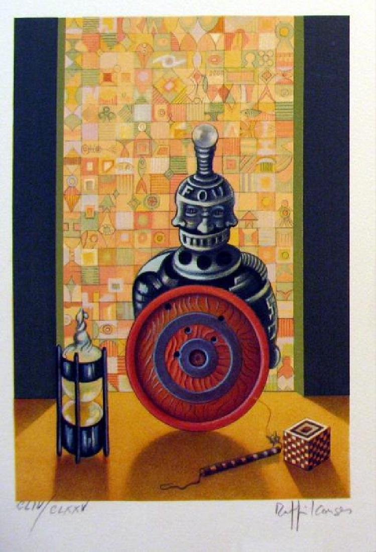 Chess Bishop Art Signed Lithograph Limited Edition Only - 2