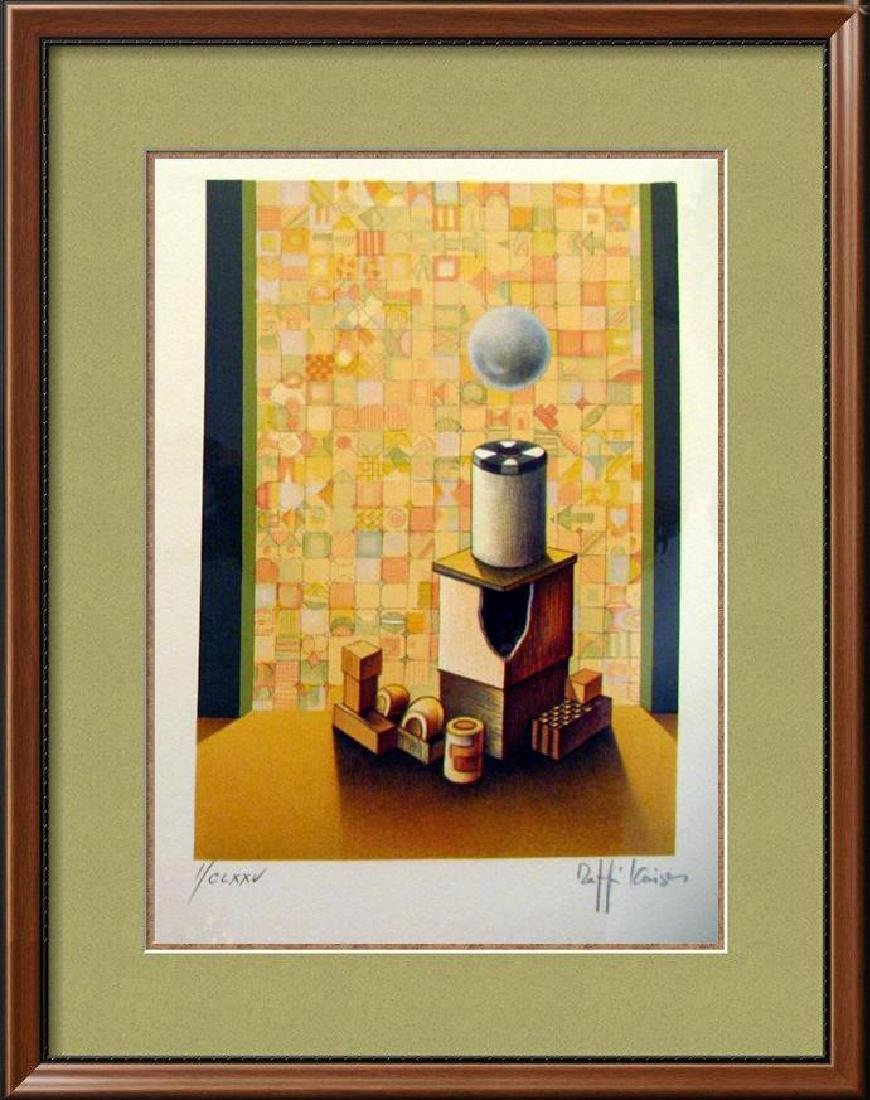 Chess Rook Art Signed Lithograph Limited Edition Only
