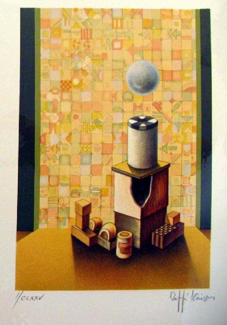 Chess Rook Art Signed Lithograph Limited Edition Only - 2