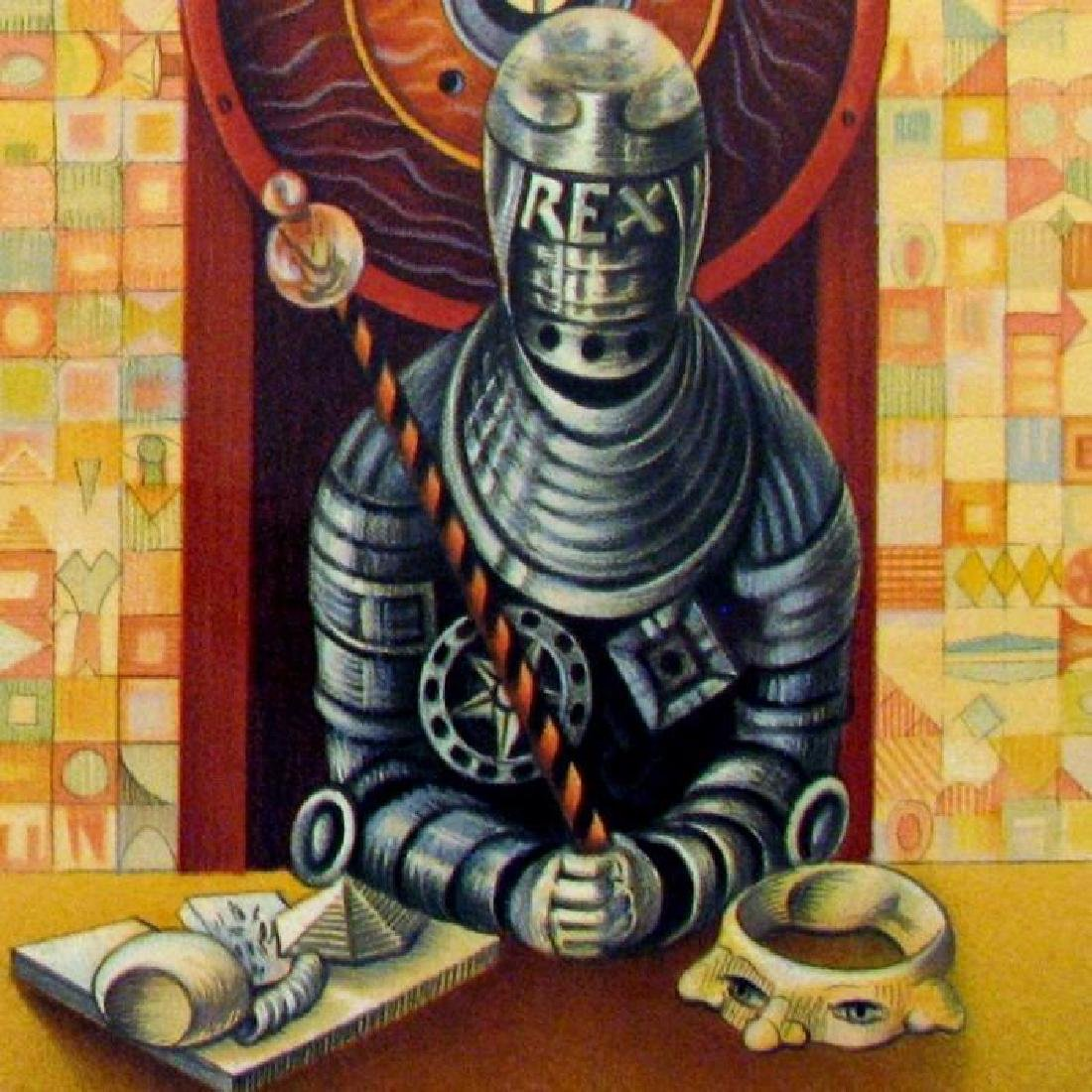 Chess King Art Signed Lithograph Limited Edition Only - 3