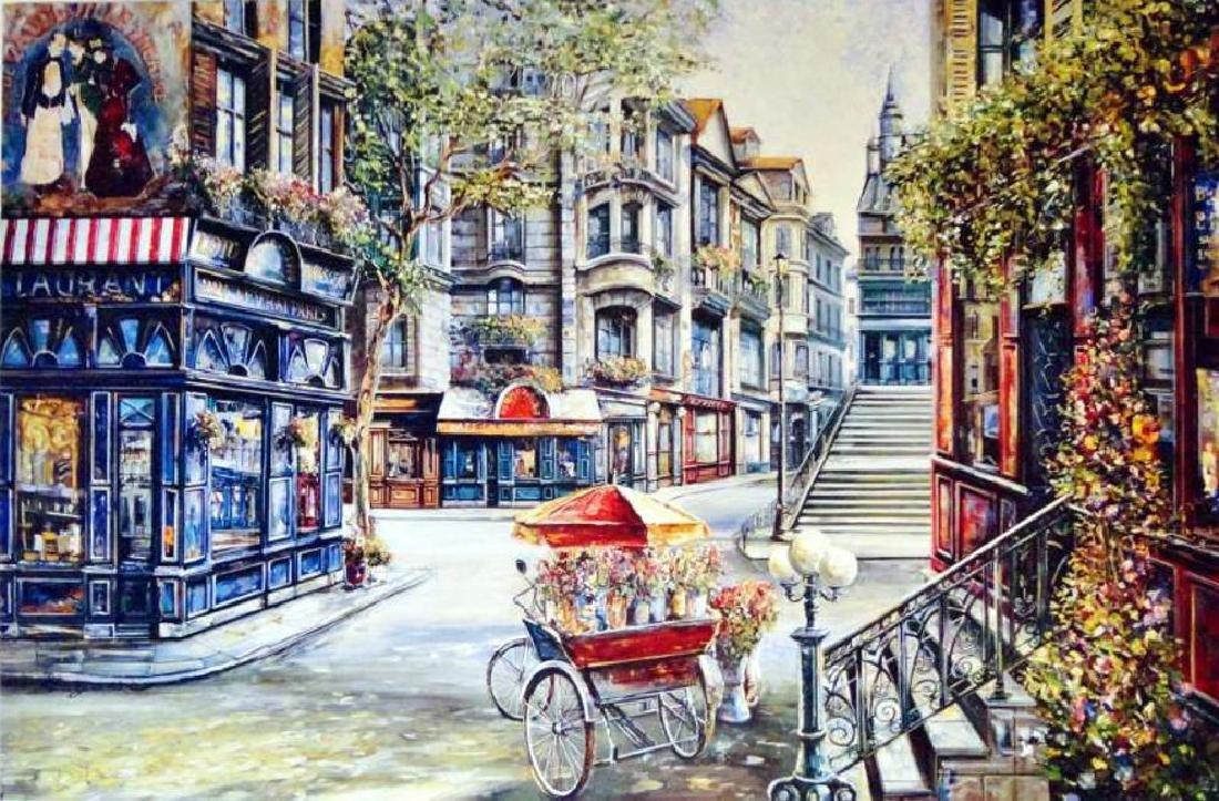 Russian Artist European Street Scene Fine Art Print - 2