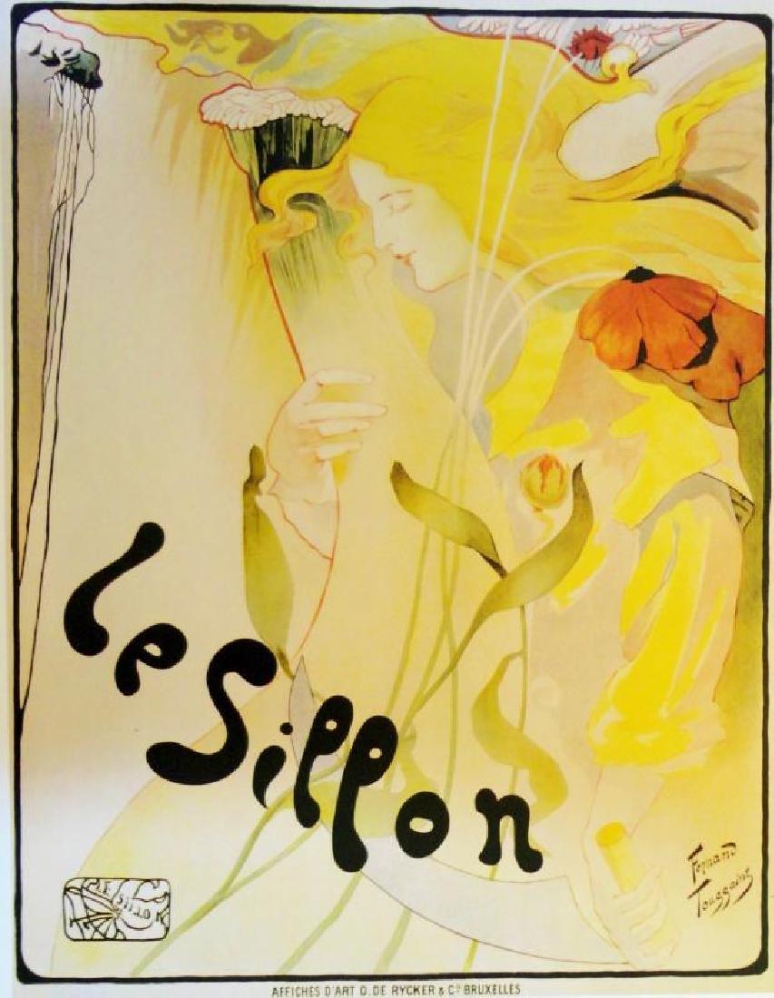 Antique Poster Reproduction Colorful Art Large Print