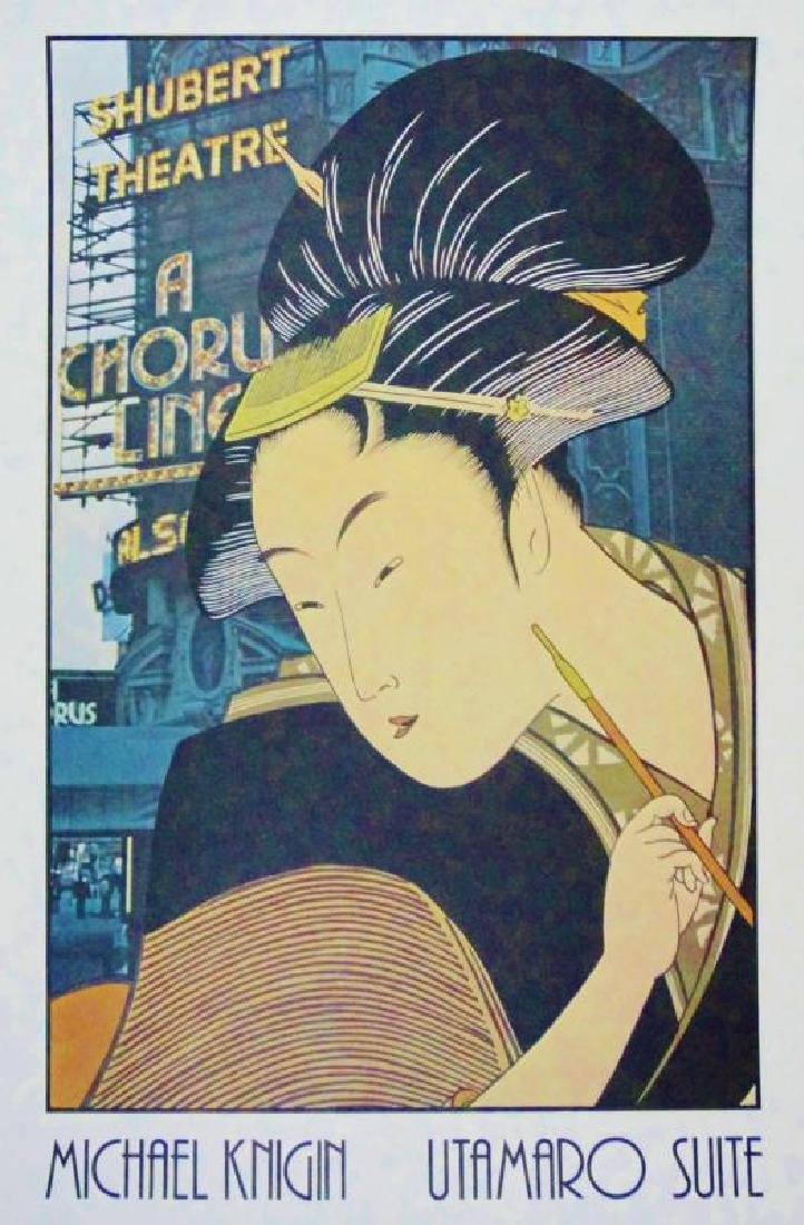 Shubert Theatre Utamaro Suite Litho Colorful Sale