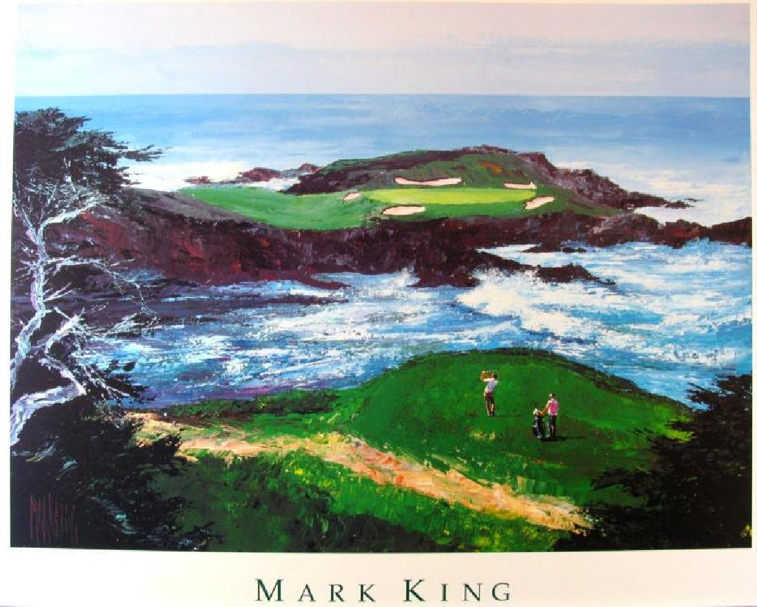 Golf Print Cypress Point #15 Impressionism Neiman