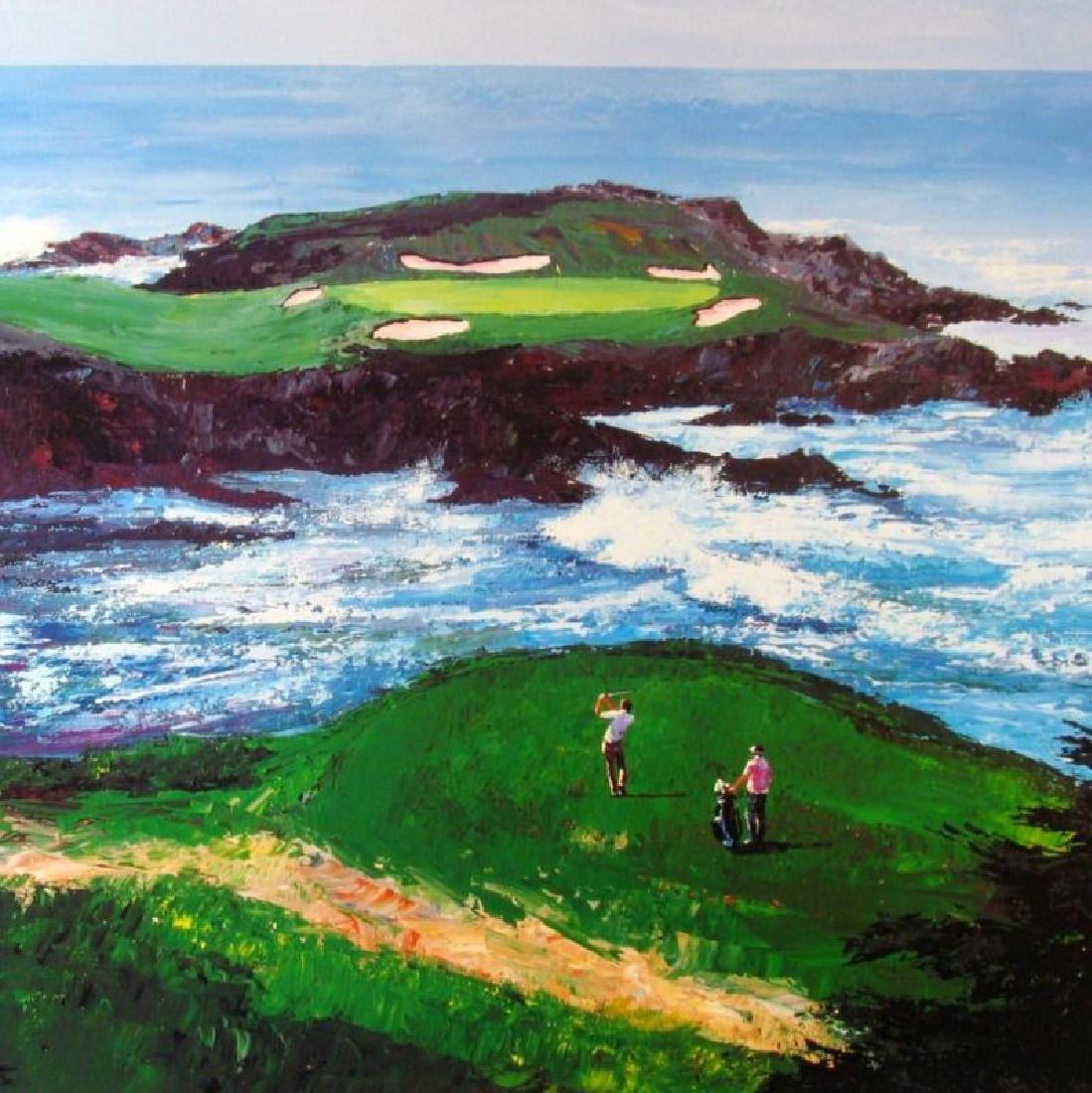 Golf Print Cypress Point #15 Impressionism Neiman - 2