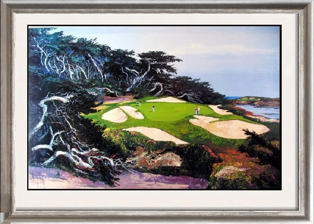 Leroy Neiman's teacher, Mark King Golf Scene Art Print
