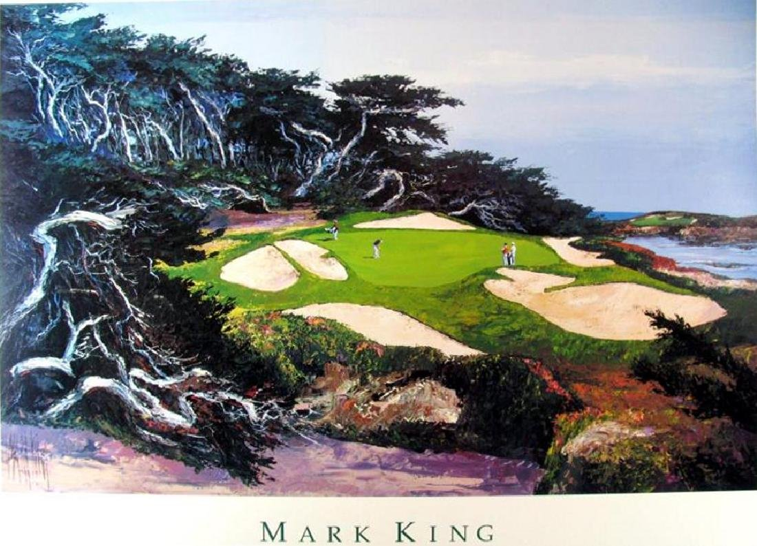Leroy Neiman's teacher, Mark King Golf Scene Art Print - 2