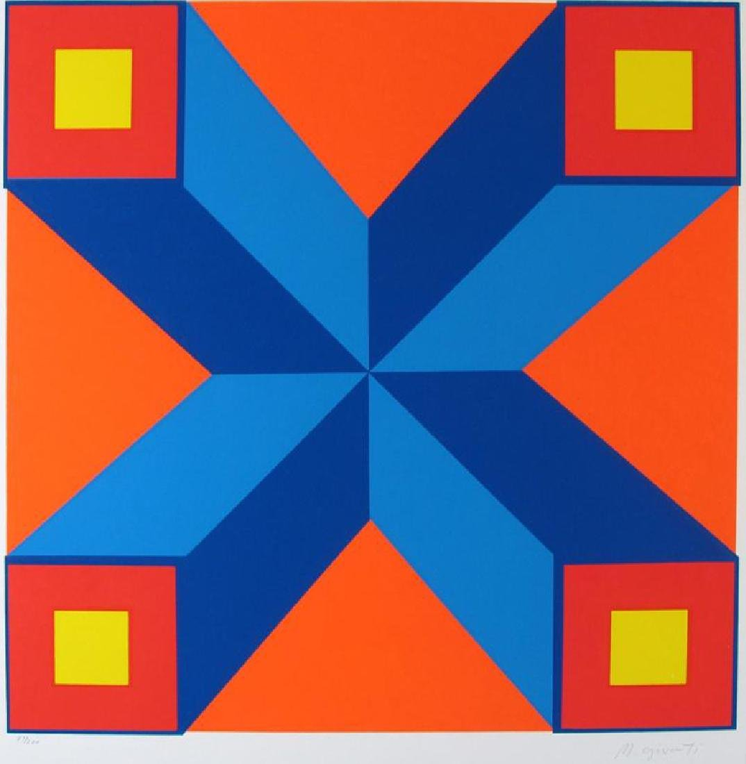 Abstract Vasarely Style Ltd Ed Huge Art Colorful - 2