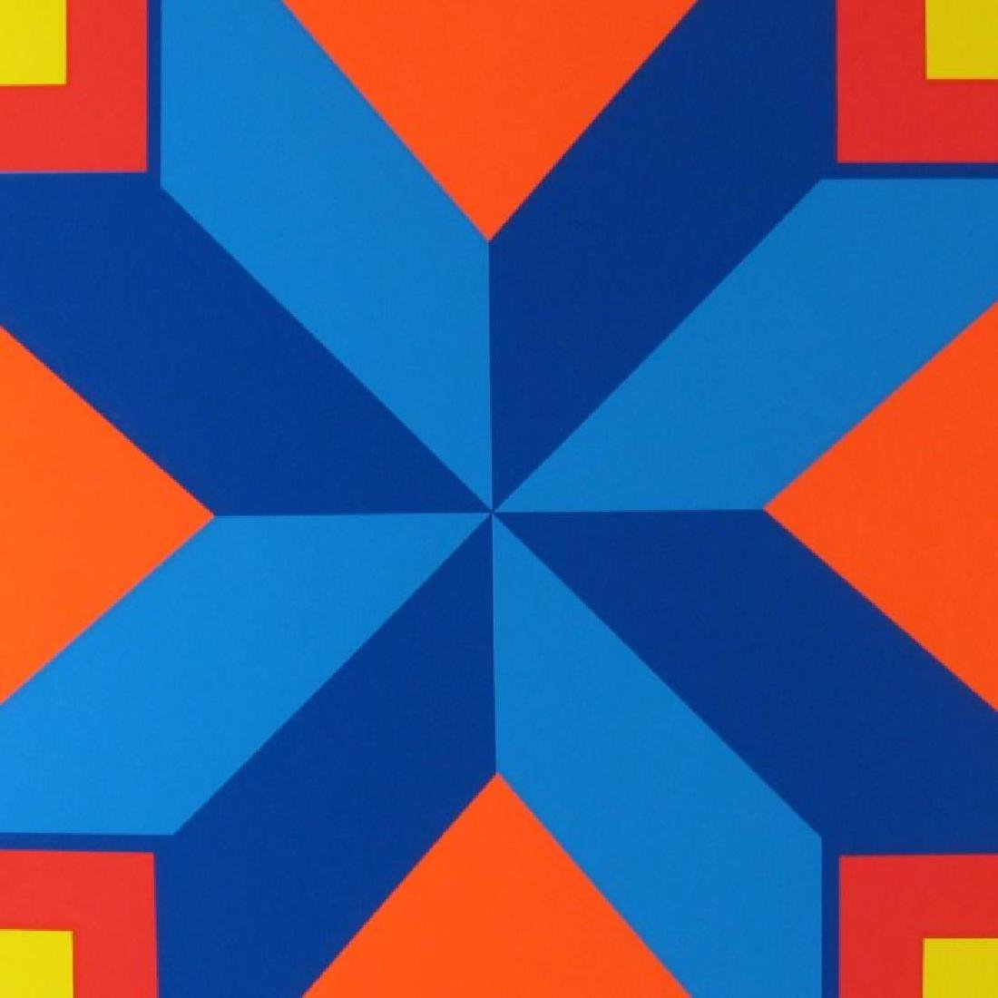 Abstract Vasarely Style Ltd Ed Huge Art Colorful - 3
