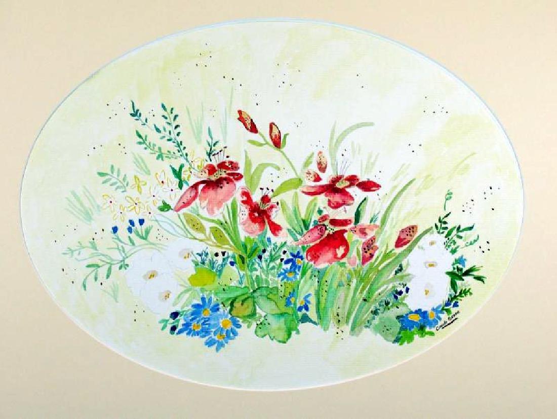 Original Watercolor Signed Carol Seger Only $30 Sale - 3