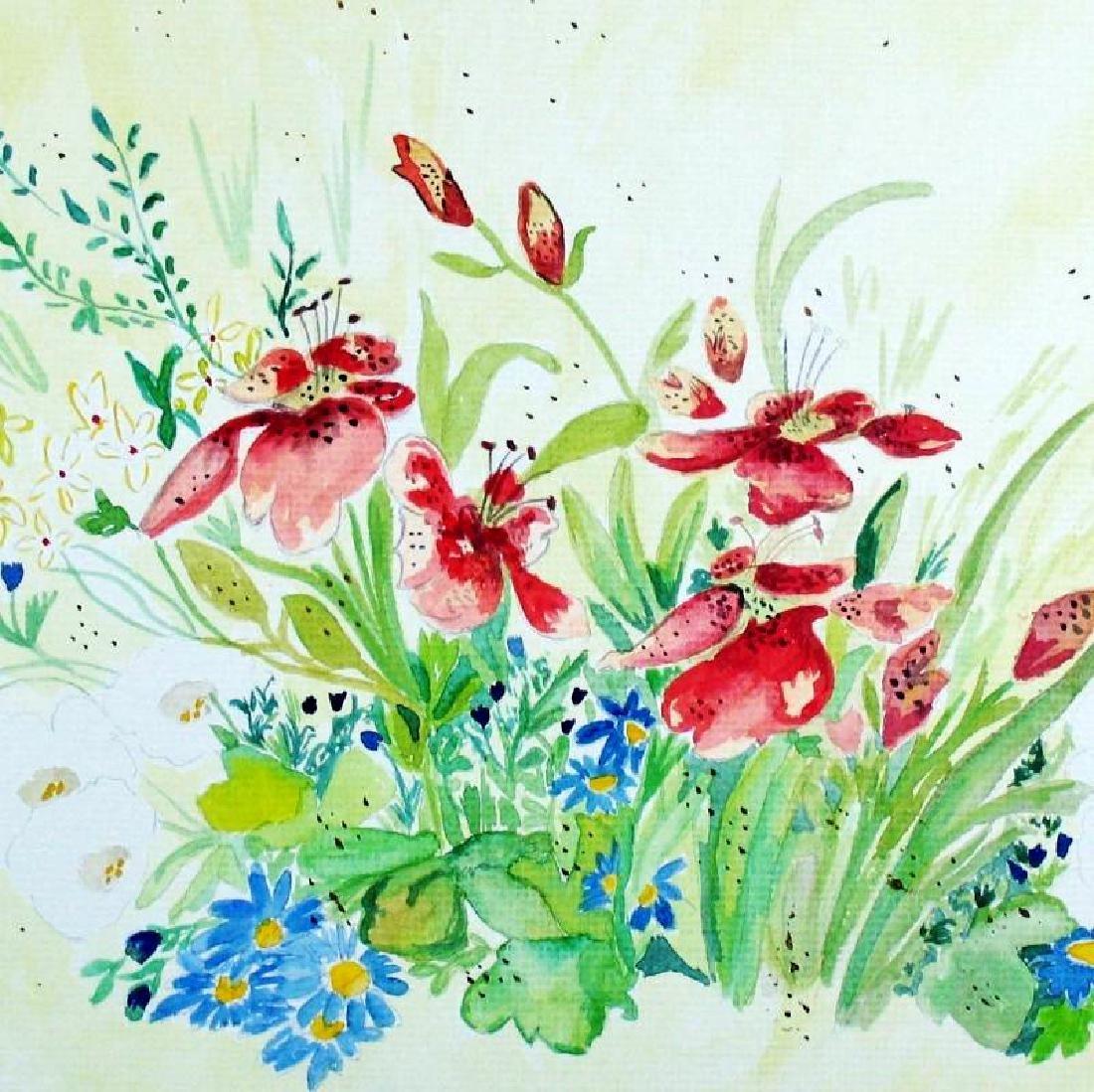 Original Watercolor Signed Carol Seger Only $30 Sale - 4