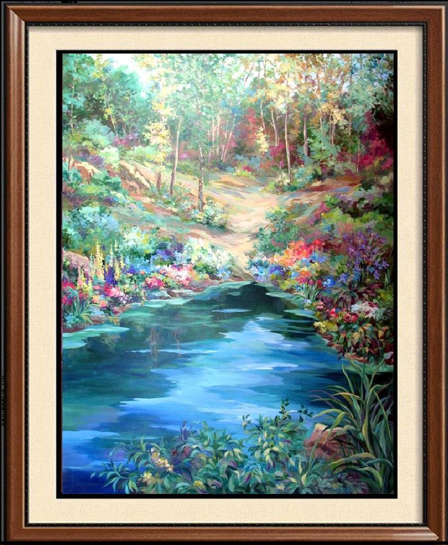 Waterfall Landscape Original Acrylic DEALER ART