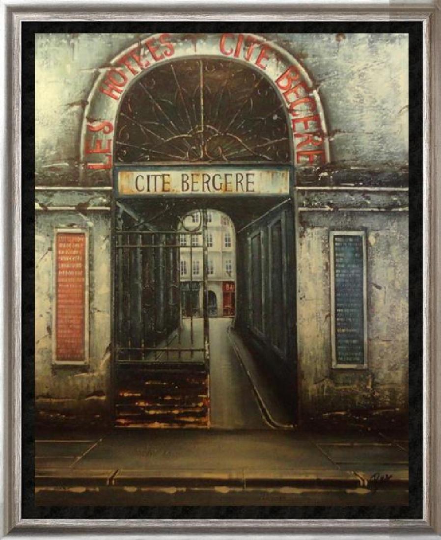Original Painting On Canvas Street Scene Impressionism