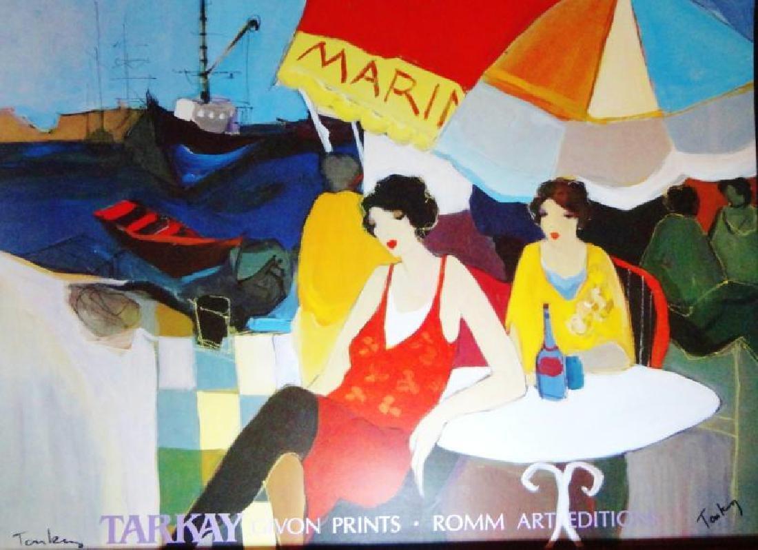 Tarkay Poster Colorful Female Women Café Scene