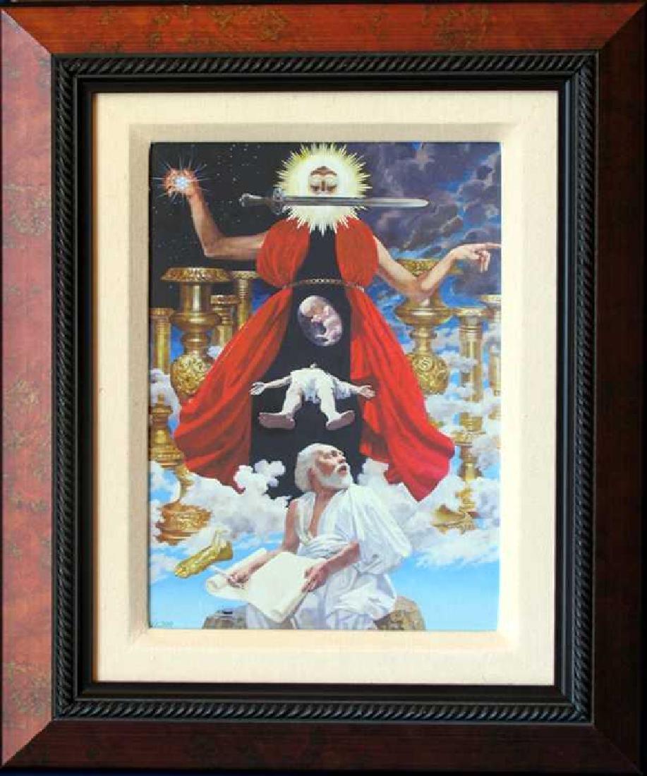 Alpha Omega Framed Canvas Religious Art