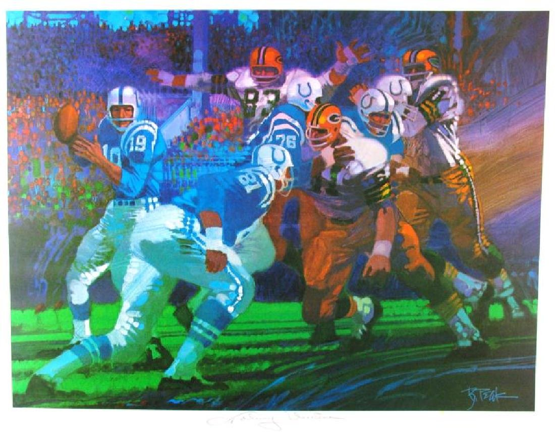 Johnny Unitas Signed Neiman-Style Ltd Ed Sale