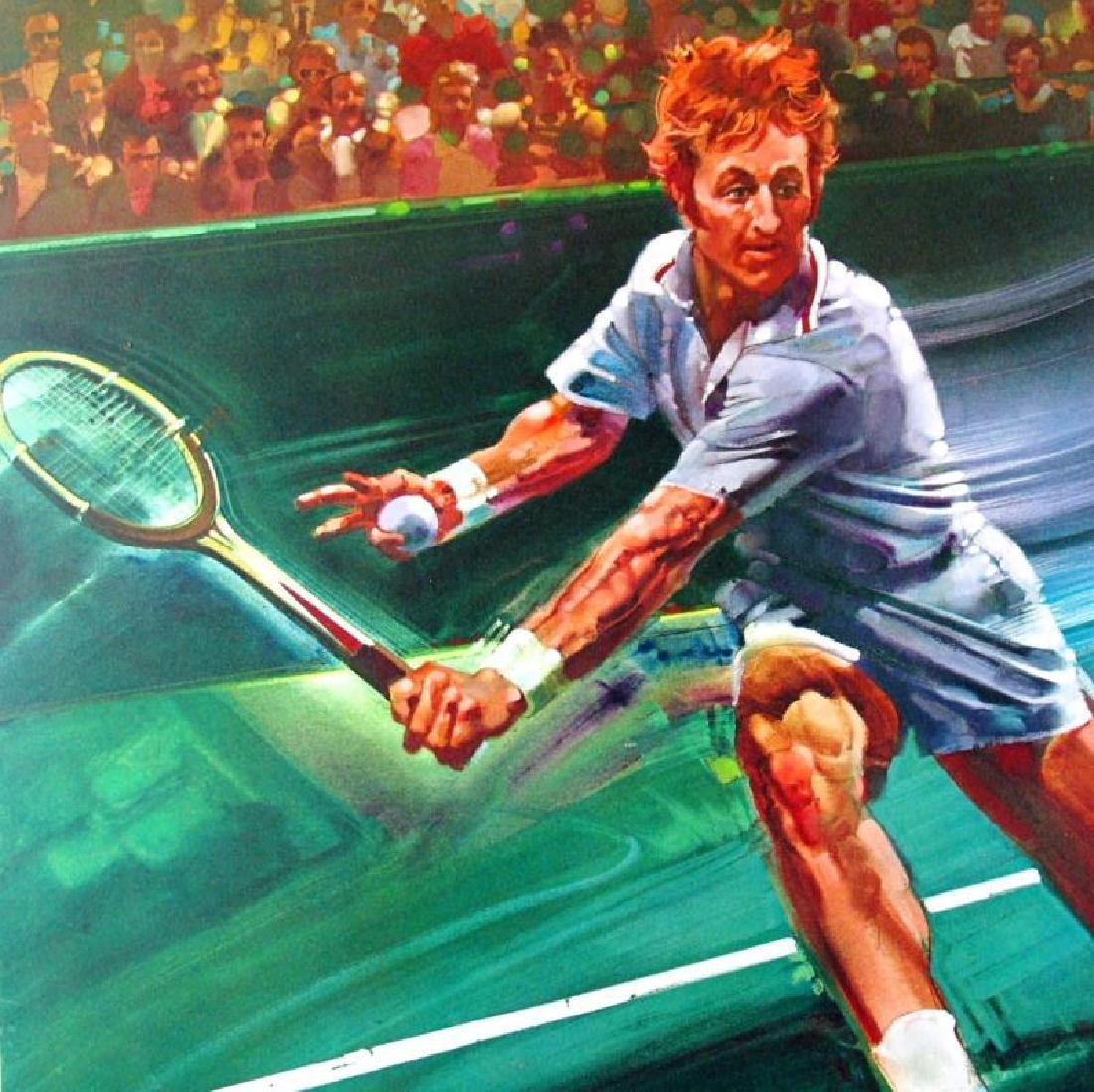 Tennis Star Rod Laver Neiman-Style Ltd Ed Signed - 2