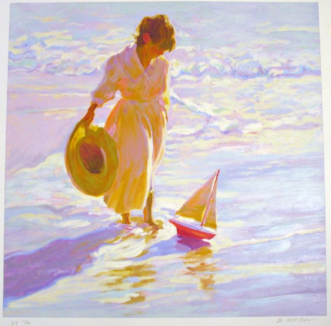Dan Mccaw Behrens Style Beach Scene Colorful Ltd Ed