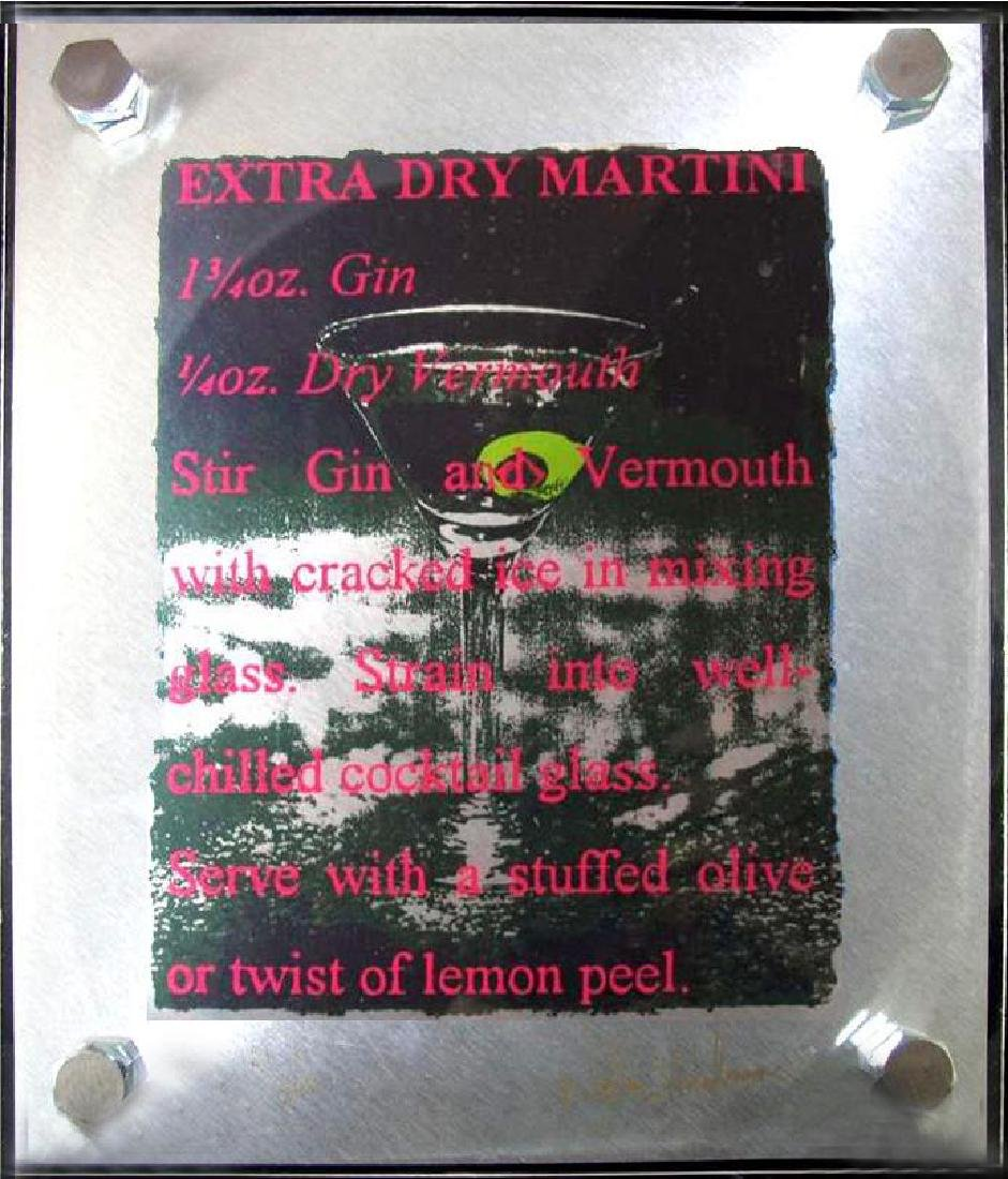 4 Martini Stainless Stell Signed Suite Unique Rare Art - 5