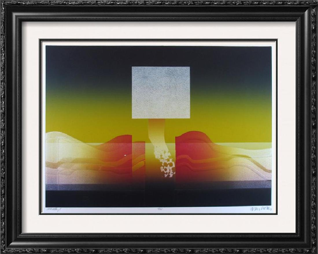 Dramatic Abstract Modern Ltd Ed Signed Serigraph