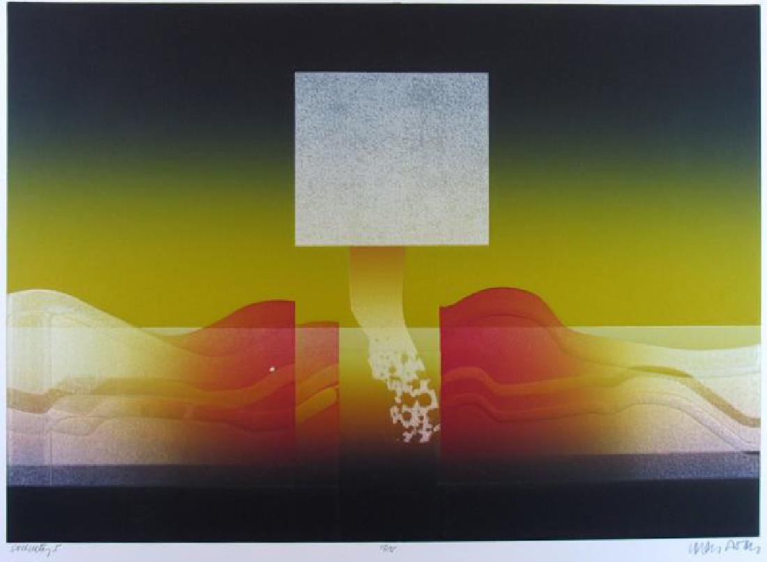 Dramatic Abstract Modern Ltd Ed Signed Serigraph - 2
