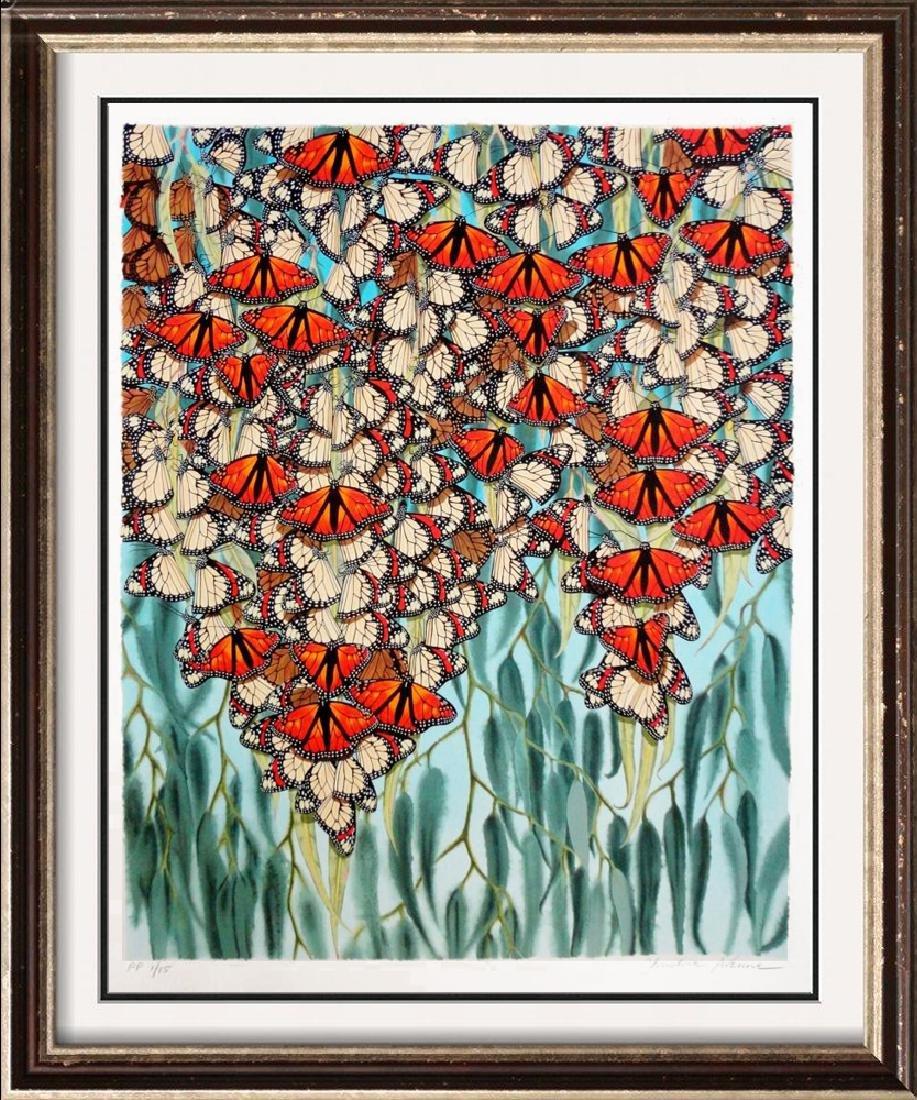 Colorful Butterfly Ltd Ed Art Estate Sale