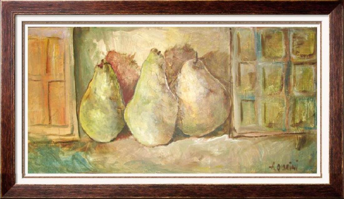 ALICIA QUAINI 30x60 ORIGINAL Signed Still Life CANVAS