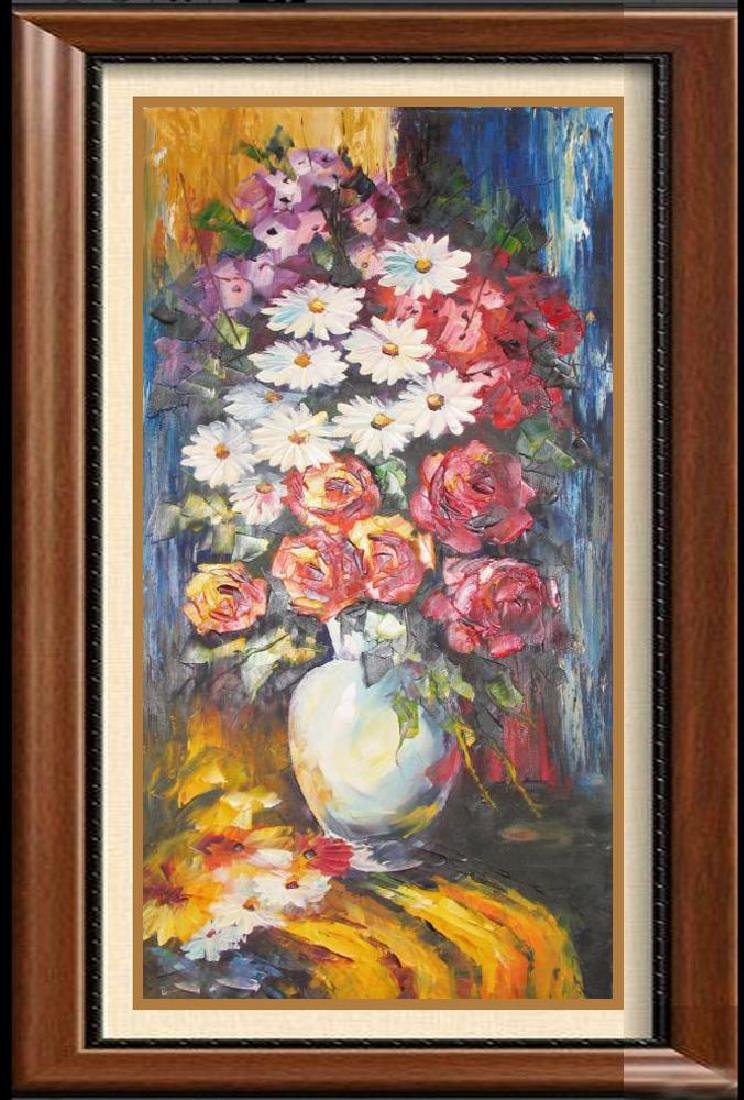 Ofremon Palette Knife Textured Original Floral On