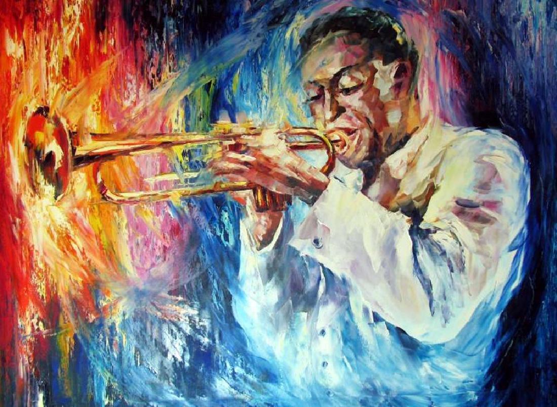 Miles Davis Musician Original Painting Canvas Sale - 2