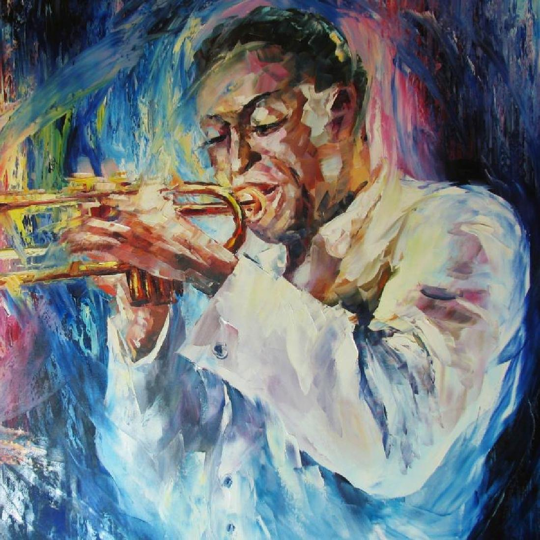 Miles Davis Musician Original Painting Canvas Sale - 4