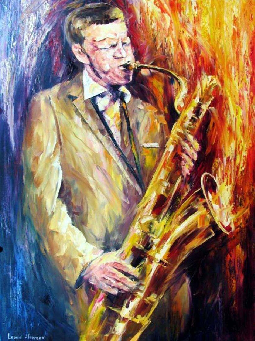 Jfk John Kennedy Blows Horn Original Painting - 2
