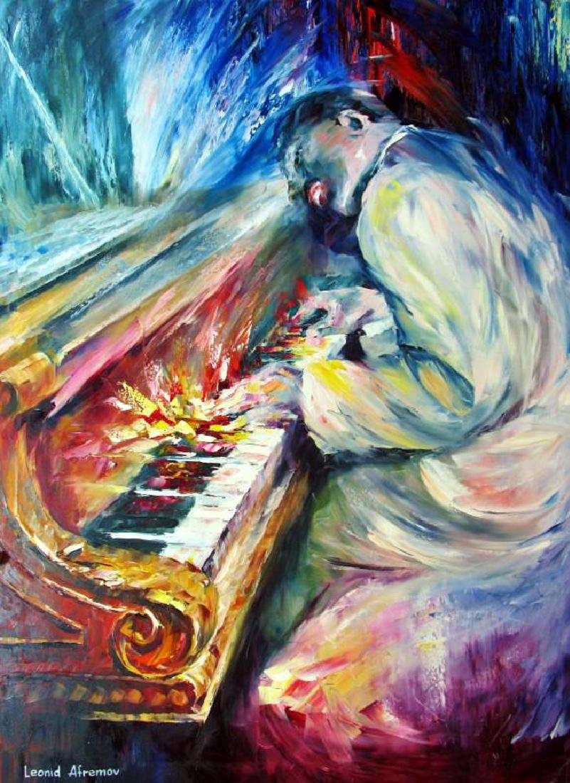 Errol Garner Painting On Canvas Piano Abstract Original - 2