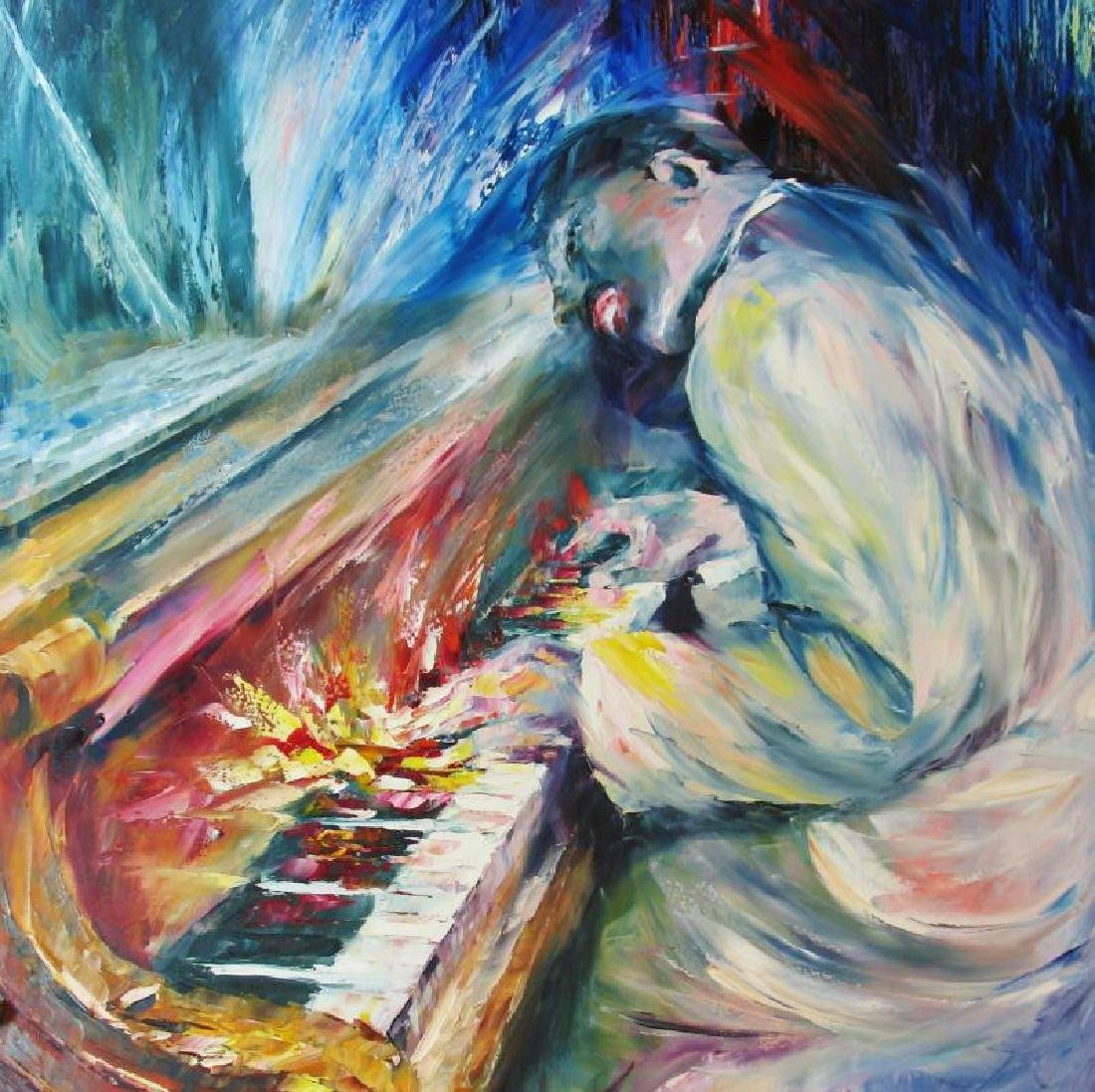 Errol Garner Painting On Canvas Piano Abstract Original - 4