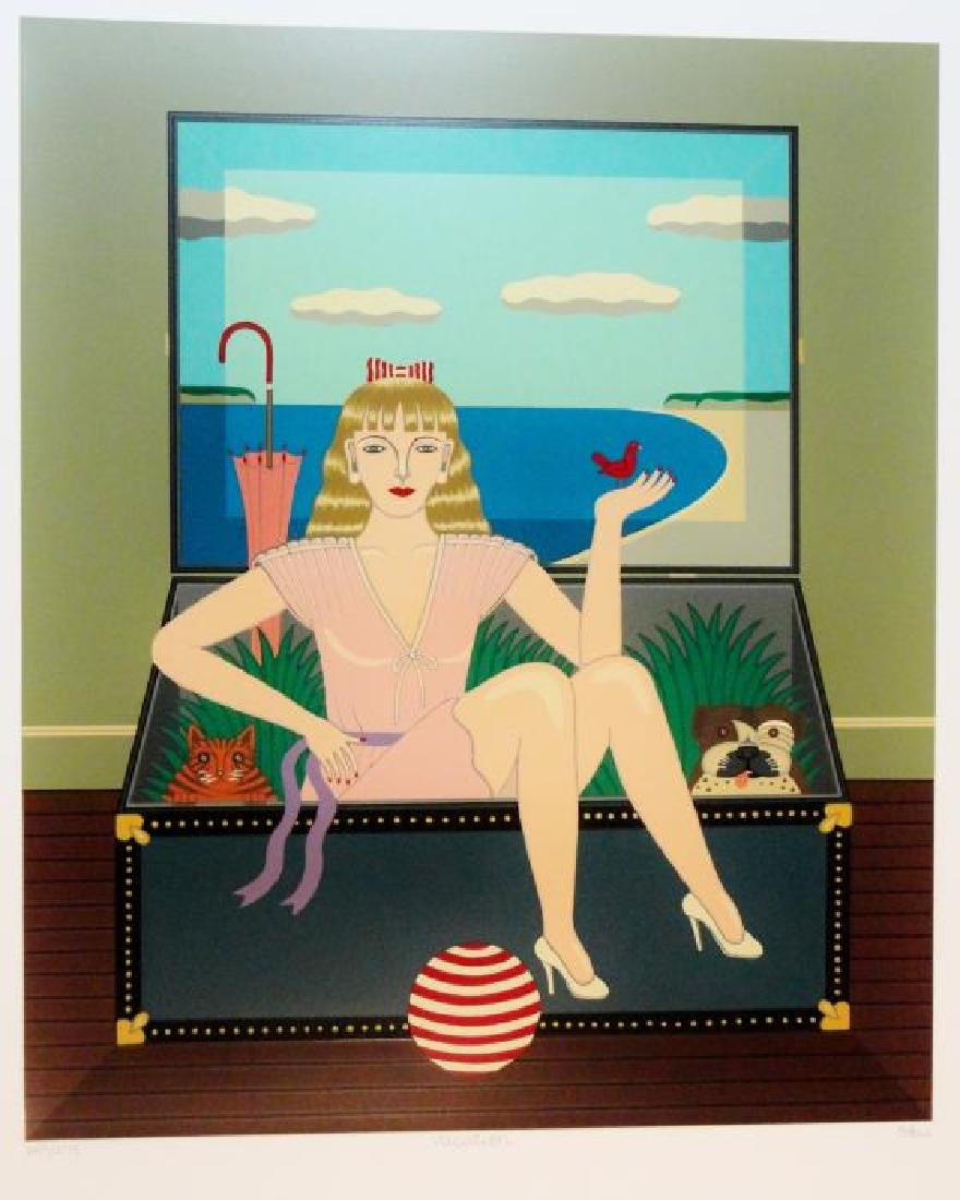 Okumura Art Deco Woman In Trunk Surreal Pop Style Ltd