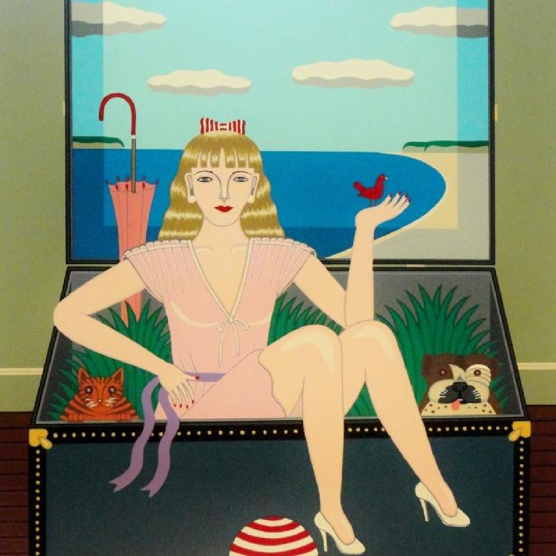 Okumura Art Deco Woman In Trunk Surreal Pop Style Ltd - 2