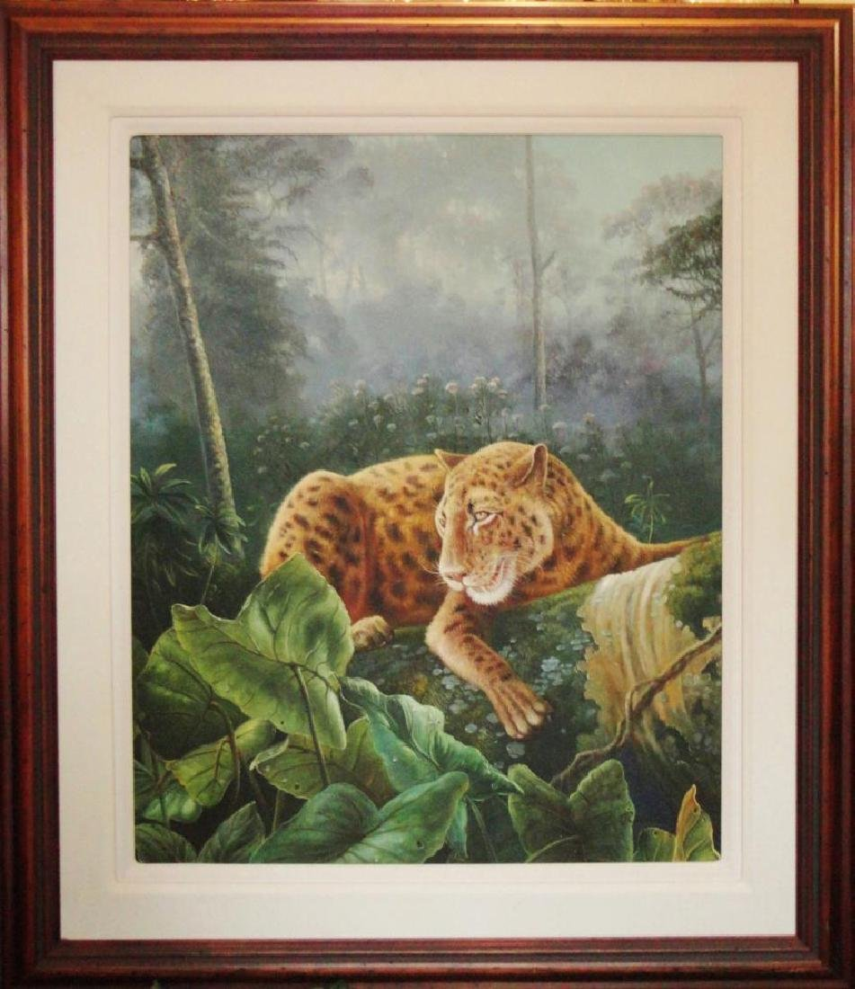 HUNTRESS TIGER PAINTING ON CANVAS LIQUIDATION SALE