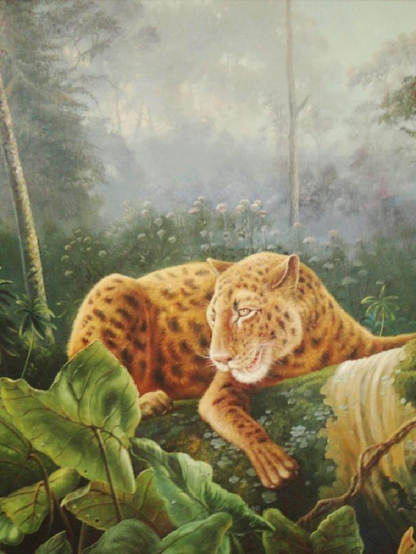 HUNTRESS TIGER PAINTING ON CANVAS LIQUIDATION SALE - 2