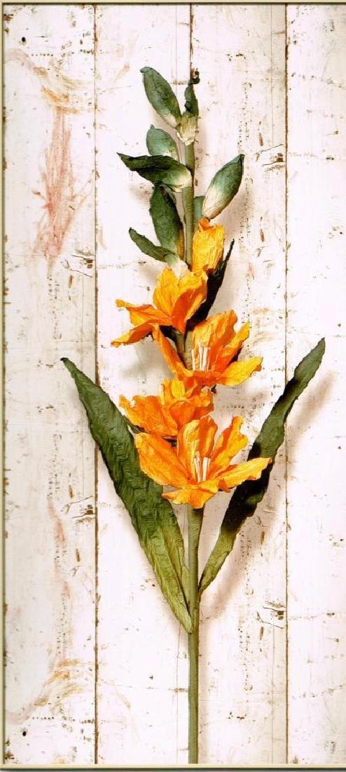 Panel Floral Giclee Canvas Dealer Liquidates - 2