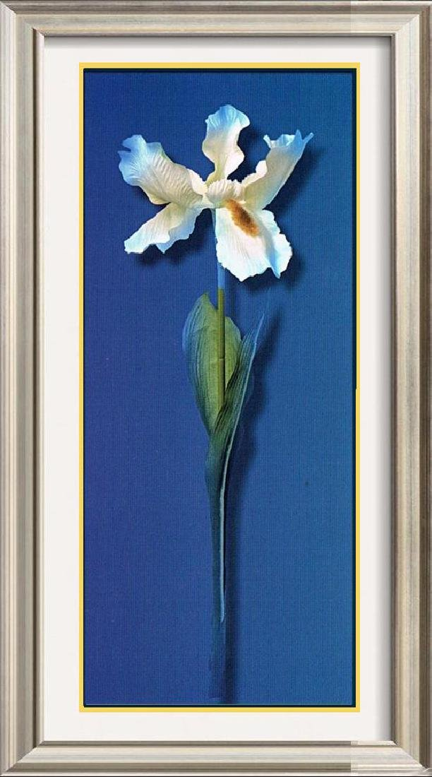 Blue Dramatic Large Floral Canvas Liquidation