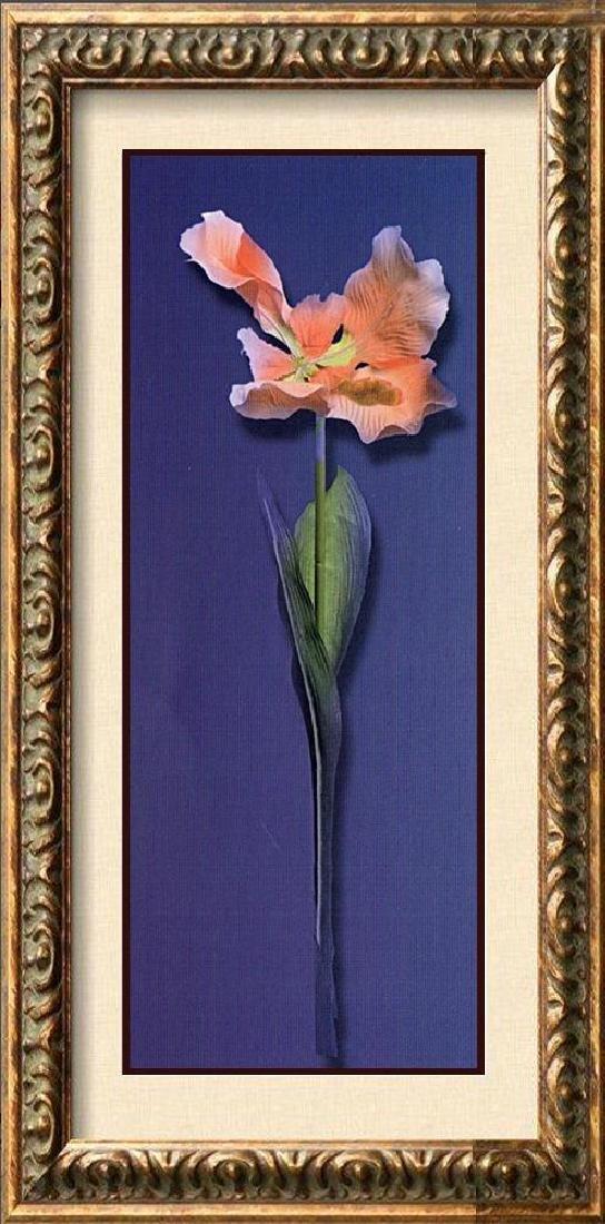 Huge Pink Rose Purple Canvas Giclee Dealer W/Sale